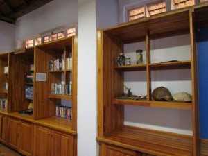 Shelves at the Gold Fields Resource Centre