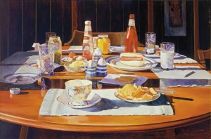 MARY PRATT Supper Table (detail) 1969 oil on canvas 61.0 x 91.4 cm
