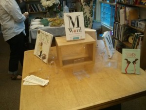 Ransacked book table at the end of the night. The BEST!