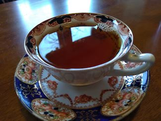 Teacup with reflection