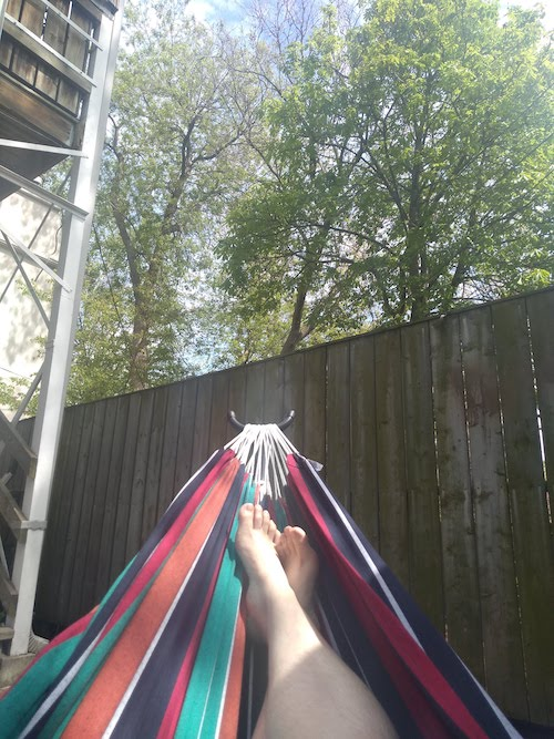 Me in my hammock